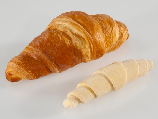 Dairy butter croissants straight