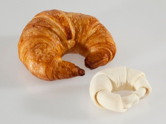 Dairy butter croissants curved *fresh butter*