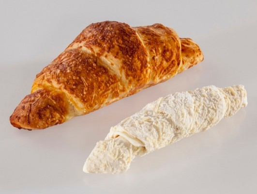 Margarine cheese croissants *slice cheese* with cheese decoration