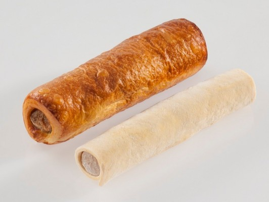 Dairy butter chicken sausage rolls